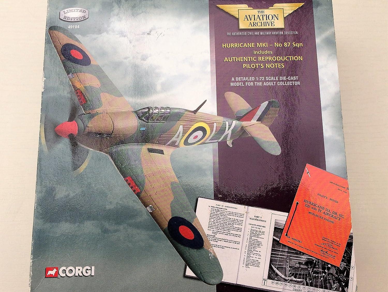 Corgi 1 72 Scale diecast 49104 Hurricane Mk1 87 Sqn