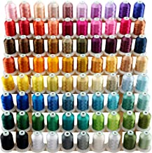 New brothread 80 Spools Polyester Embroidery Machine Thread Kit 1000M (1100Y) Each Spool - Colors Compatible with Janome a...