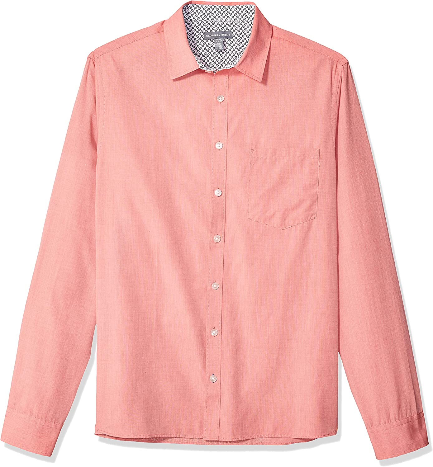 Geoffrey Beene Men's Big and Tall Easy Care Long Sleeve Button Down Shirt