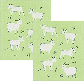 Now Designs Swedish Dishcloth, Set of Two, Goats