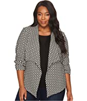 Karen Kane Plus - Plus Size Jacket with Shirred Sleeves