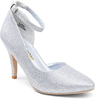 Women's Low Heels Pumps Dress Shoes Casual Wedding Bridal...