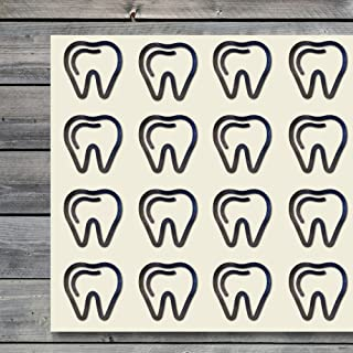 44 teeth stickers