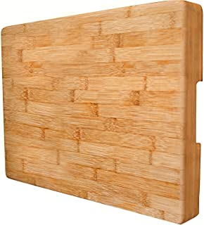 EXTRA LARGE Bamboo Cutting Board Butcher Block By Neet - Thick Heavy & Solid (16.5