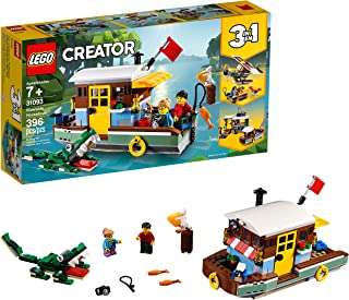 LEGO Creator 3in1 Riverside Houseboat 31093 Building Kit, 2019 (396 Pieces)