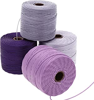 HELBY IMPORT CO. S-LON Bead Cord 4PK Lilac, Grey, One Size
