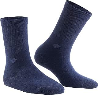 13% Pure Silver Socks – Anti-Odor, Antibacterial, Anti-fungal Crew Dress Socks by Bonny Silver