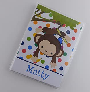 Monkey Photo Album IA#823 Personalized Boy Grandma's Brag Book 4x6 or 5x7 Pictures