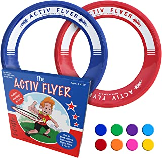 Activ Life Best Kid's Flying Rings [2 Pack] Fly Straight & Don't Hurt - 80% Lighter Than Standard Flying Discs - Replace Screen Time with Healthy Family Fun - Get Outside & Play! - Made in USA
