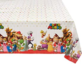 """Amscan 571554 Super Mario Brothers Multicolor Plastic Table Cover, Party Favor 54"""" x 96"""" 1 ct"""