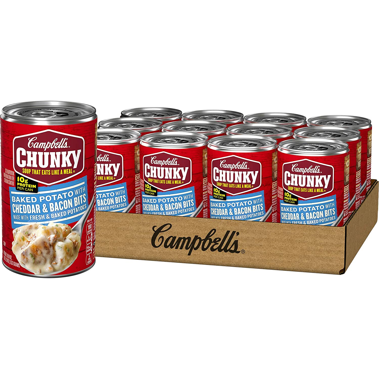 Campbell's Department store Chunky Baked Potato with Bits 1 Soup Bacon Cheddar Ranking TOP2