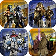 Star Wars Generations 3D Square Dessert Plates Party Accessory by KidsPartyWorld.com