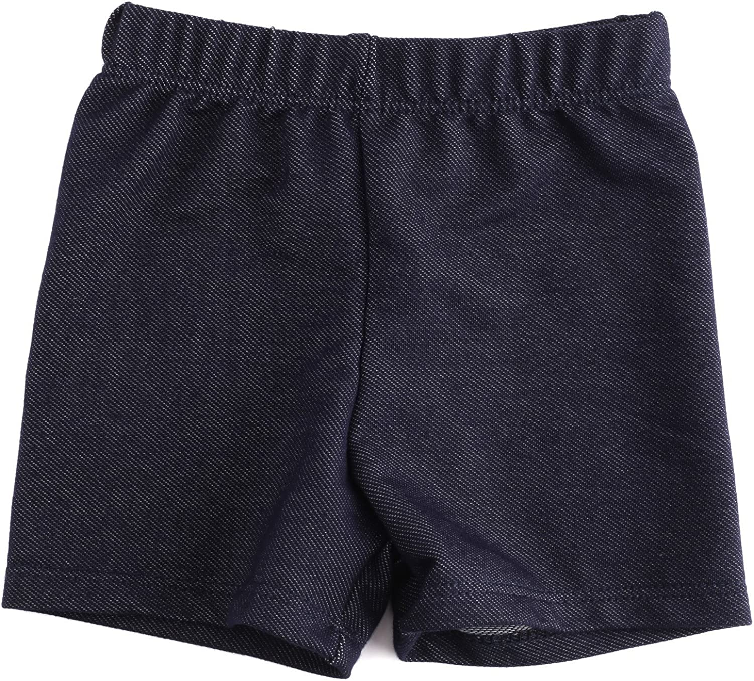 DMK Stretch Knit Tulsa Mall Popular products Denim Look Toddlers Shorts Babies for