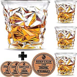 Diamante vasos de Whisky – juego de 4 – por Vaci + 4