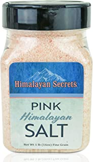 Natural Pink Himalayan Cooking Salt - Kosher Certified Fine Grain Gourmet Salt in 16 oz Conical Shaker - Heart Healthy Salt Packed with Minerals