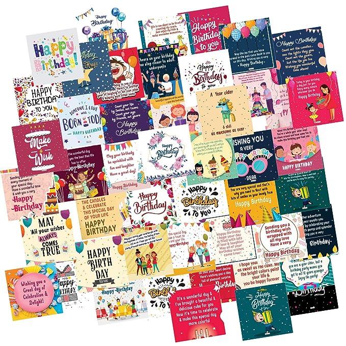 ODDCLICK Set of 48 Birthday Cards