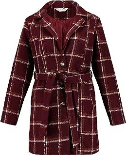 Studio Untold Women's Plus Size Checked Wool Blend Coat 719712