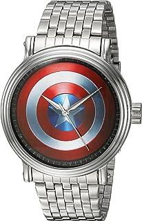MARVEL Men's Captain America Analog-Quartz Watch with Alloy Strap, Silver, 22 (Model: WMA000023)