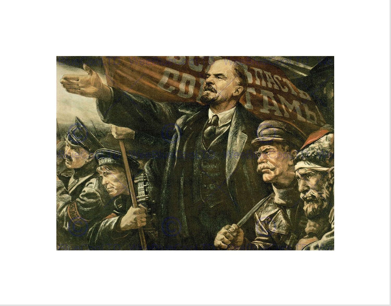 Lenin October Soviet USSR Communism Revolution Impresión del Arte 12 x 16 Pulgadas