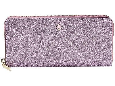 Kate Spade New York Burgess Court Slim Continental Wallet (Lilac) Wallet Handbags