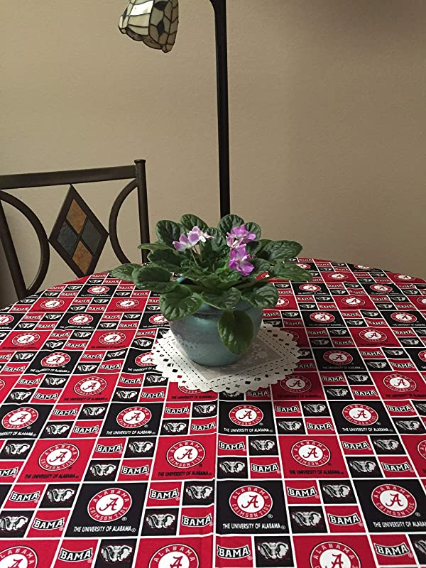 Licensed University Of Alabama Tablecloth 100 Cotton Great For Graduation Parties University Conferences Office Parties Collegiate Gatherings Or Any Display Machine Washable