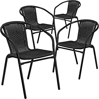Super Amazon Com Black Patio Dining Chairs Chairs Patio Download Free Architecture Designs Grimeyleaguecom