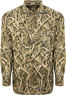 77775952620e6 Drake EST Camo Flyweight Wingshooter's Shirt with Mesh Back Long Sleeve