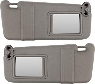 IAMAUTO 22825 New Gray Sun Visor Pair Left & Right for 2007-2011 Toyota Camry Without Vanity Light (Set of Driver and Passenger Side Visors)