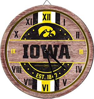 iowa hawkeye clock