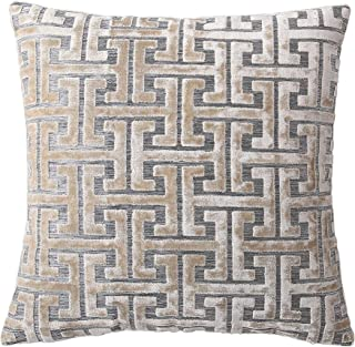 Decorative Throw Pillow Cushion Cover for Sofa, Couch or Bed – 18x18 Inches, 1PC – Many Styles Available Including Embroidered, Fur, Stripe, Medallion, Floral, Geometric & More (Gold (Velvet))