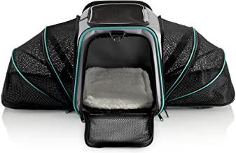Pawdle Dual Expandable Pet Carrier with Soft Sided Crate for Small Animals