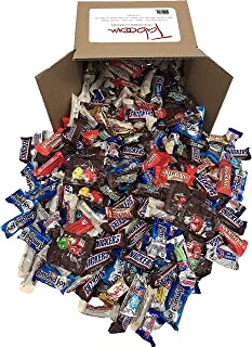 Taboom Assorted Bulk Chocolate, Individually Wrapped: 5 LB Box Variety Pack with M&M, Musketeers, Milky Way, Twix, Snickers, 100 Grand, Almond Joy. Baby Ruth and Whoppers