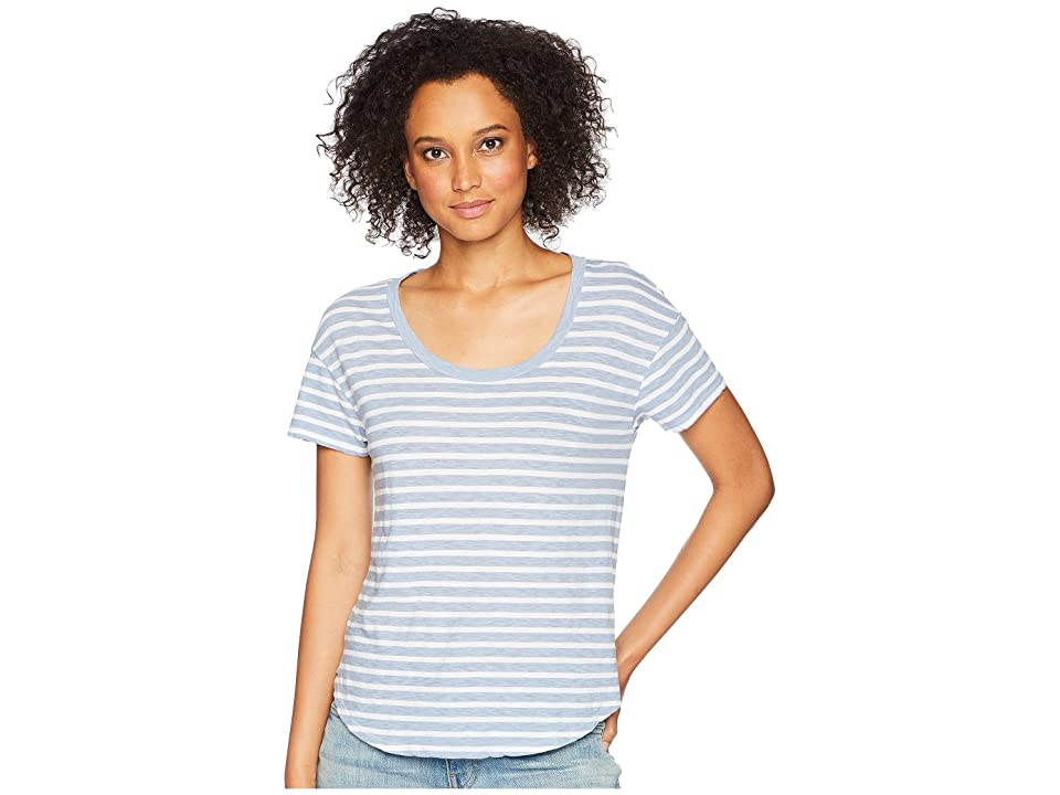 Three Dots Saguaro Stripe Top (Dark Cool Mist) Women