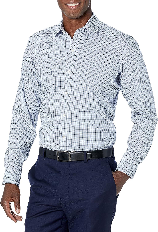Buttoned Down Men's Slim Fit Spread Collar Pattern Dress Shirt
