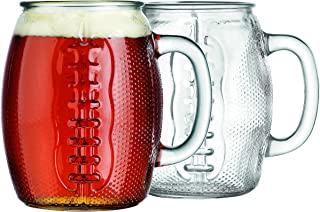 Oktoberfest 37 Oz Football Glass Fun Jumbo Beer Mug (2)