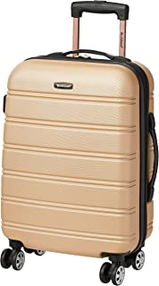 Rockland Luggage Melbourne 20 Inch Expandable Carry On, Champagne, One Size