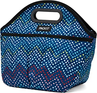 PackIt Freezable Traveler Lunch Bag, Dottie Chevron