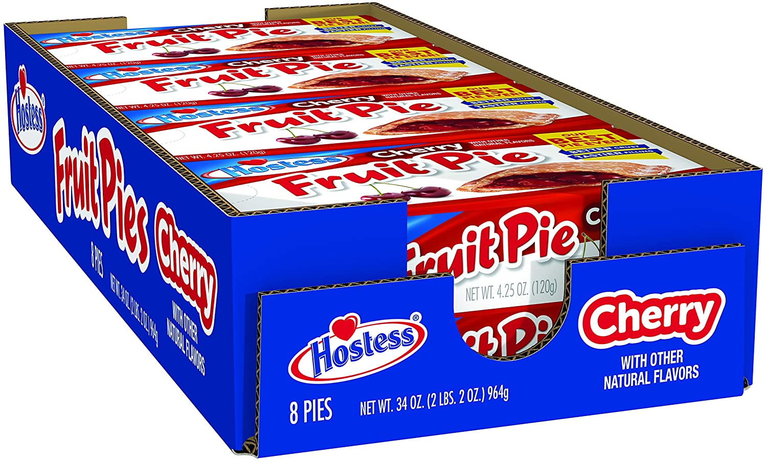 Hostess Fruit Pie Max 49% OFF Cherry 4.5 Ranking TOP2 Ounce 8 Count