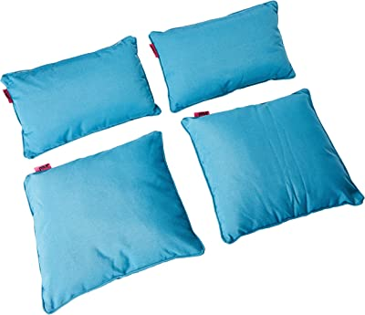Christopher Knight Home Coronado Outdoor Water Resistant Pillows, 4-Pcs Set, Teal