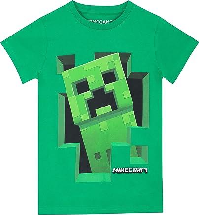 Minecraft - Maglietta a Maniche Corta per Ragazzi