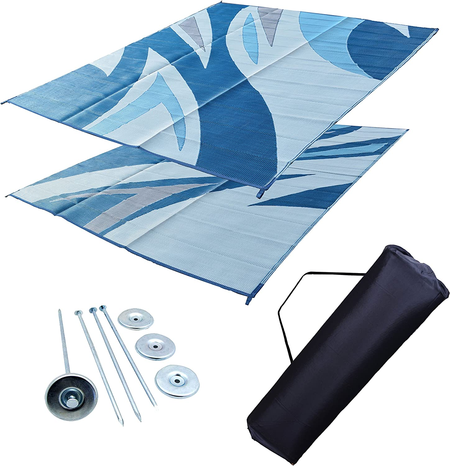 EZ Travel Mats RV Patio Mat Leisure Outdoor 9x12 New color Quality inspection Awning