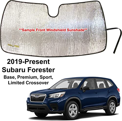 high quality YelloPro Custom Fit Reflective Front Windshield Sunshade for 2019 2020 2021 Subaru Forester lowest Crossover, Base, Premium, Sport, Limited, UV Reflector Sun Protection outlet sale Accessories online