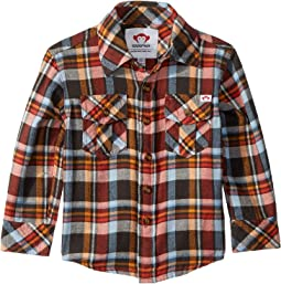 Flannel Shirt with Elbow Patches (Toddler/Little Kids/Big Kids)