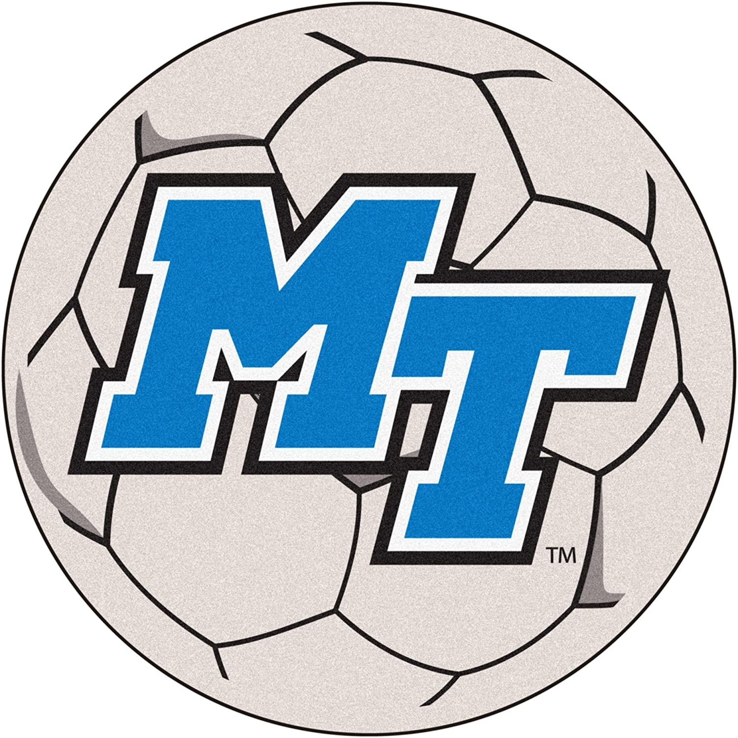 FANMATS Middle Tennessee State Soccer Ball Rug 29  diameter