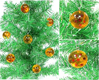 Dragon Ball Z ~ DBZ ~ Seven Piece Ornament Set Featuring the 7 Wish Granting Dragon Ball Z Spheres, Ornaments are 1
