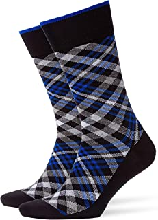 FALKE Men's Cadogan M SO BURLINGTON Men Cadogan Socks - 83% Cotton, Blue (Marine 6120), UK 6.5-11 (Manufacturer size: 40-4...