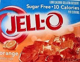Jell-O Orange Sugar-Free Gelatin 0.60 oz (4 Pack)