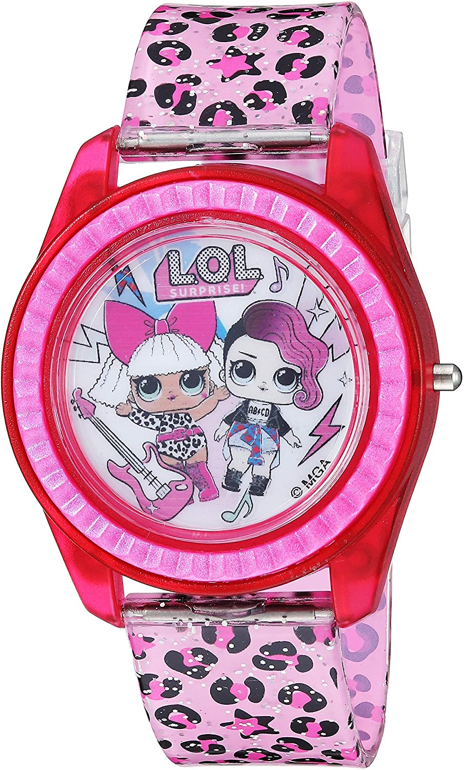L.O.L. Surprise Girls' New Free Shipping Quartz Watch Max 73% OFF with Pink Strap 1 Plastic