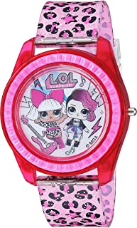 ساعة كوارتز للبنات بسوار بلاستيكي من ال. او. ال سربرايز!، زهري، 17.6 (الموديل: LOL4000)