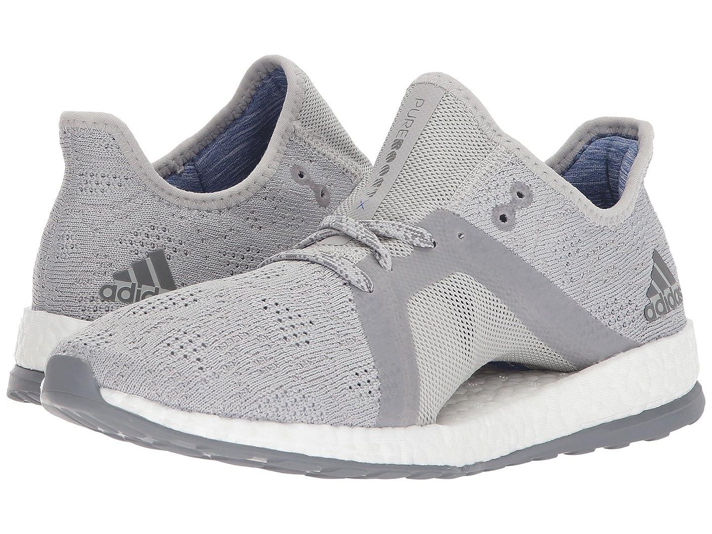 符号引き出す角度(アディダス) adidas レディースランニングシューズ?スニーカー?靴 PureBOOST X Element Grey/Grey 5.5 (22.5cm) B - Medium